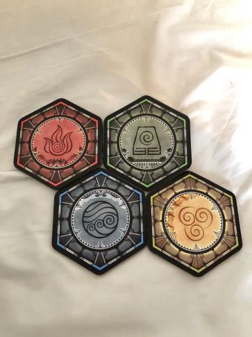Avatar Last Airbender Elemental Coasters created by Noverantale